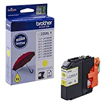 Brother LC-225XLY Inkjet Cartridge, Yellow, Single Pack, High Yield, Includes 1 x Inkjet Cartridge, Brother Genuine Supplies
