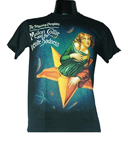 Preisvergleich Produktbild THE SMASHING PUMPKINS Men's Herren T-Shirt Schwarz MELLON COLLIE AND THE INFINITE SADNESS Medium Size M