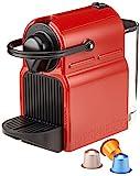 Krups XN100510 Nespresso Inissia Kaffeekapselmaschine (inklusive Welcome Pack mit 14 Kapseln) Ruby red