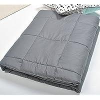 Blanket Manta de Levantamiento de Pesas - Manta de Gravedad Alivia el insomnio/Alivia la Fatiga (Gris Oscuro) 5.4kg-9kg (Tamaño : 120 * 200cm(9kg)) - Muebles de Dormitorio precios