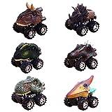 Webla Tirer En Arrière Modèle De Voiture Jouet Miniature Voiture 6Pc Enfants Cadeau De Jouet Modèle De Dinosaure Voiture Mini Jouet Arrière Du Cadeau De Voiture