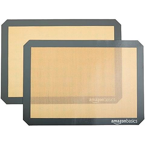 AmazonBasics - Tappetini da forno in silicone, 2