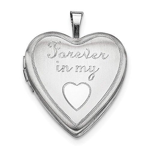 In Meinem Medaillon Für Herz Immer (Sterling Für immer Silber Medaillon Herz 20mm Meine in)