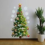 Chinatera - Decorazione adesiva per parete, a forma di albero di Natale, rimovibile