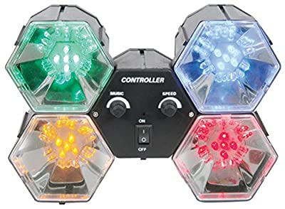 qtx 4-Way LED Party Lights, Multi-Colour