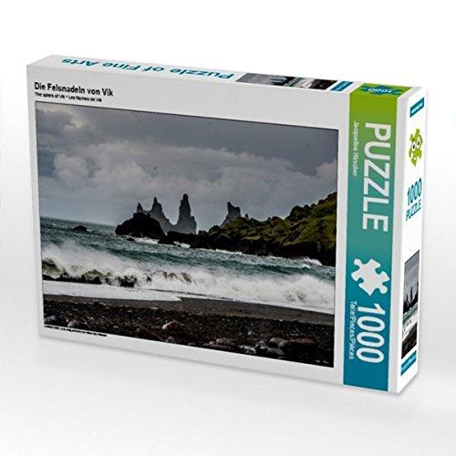 Die Felsnadeln von Vik 1000 Teile Puzzle quer