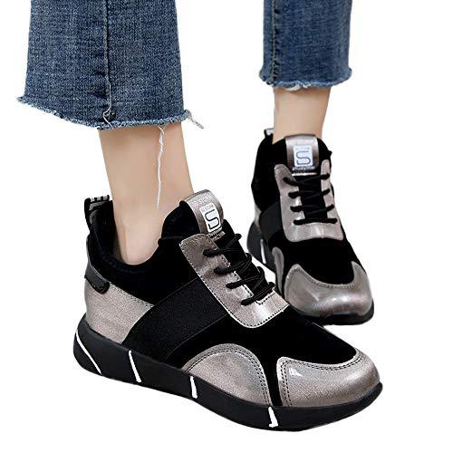 MYMYG Sneakers Damen Turnschuhe Plattform Sportschuhe Laufschuhe Flache -