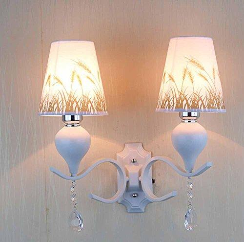 SSBY Mode Schlafzimmer Nachttischlampen, europäischen Stoff Gang Leuchten, warme Kreativraum Leuchten
