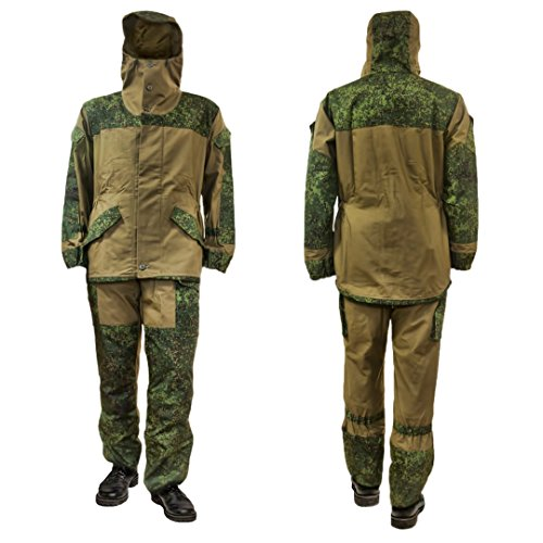 GORKA-3 BARS Original Russische Armee Spezial Militär BDU Uniform Canvas Camo Jagd Anzug (Digital Flora)