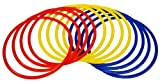 Precision Training Speed Agility Rings Hoops - Red/Yellow/Blue, 45 cm
