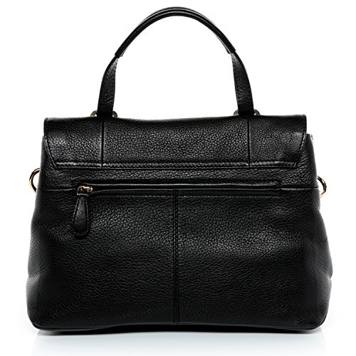 BACCINI Handtasche PINA - Henkeltasche - Damentasche - echt Leder indigo schwarz