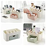 #8: Kretix Make up & Cosmetic Makeup Jewellery Storage Organiser Box for Storage of Lipstick, Bracelet, Chains, Necklace, Earring Desktop Drawer Plastic Storage Box - Set of 1