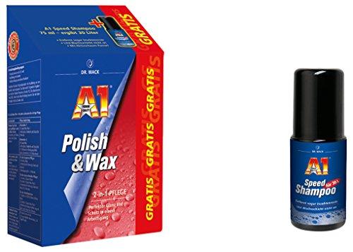Dr. Wack - A1 Polish und Wax, 500 ml inkl. GRATIS A1 Speed Shampoo, 75 ml,(#27501) - Gratis-shampoo