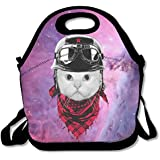 The Adventure Cat Handy Portable Zipper Lunch Box Lunch Tote Lunch Tote Bags