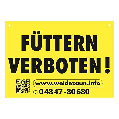 """Warnschild \""""FÜTTERN VERBOTEN\"""" für den Weidezaun"""