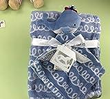 Baby Appease Tröster Spielzeug Säugling Soft Appease Handtuch Tröster Spielzeug Plüsch Nette Fisch Spielzeug Blau