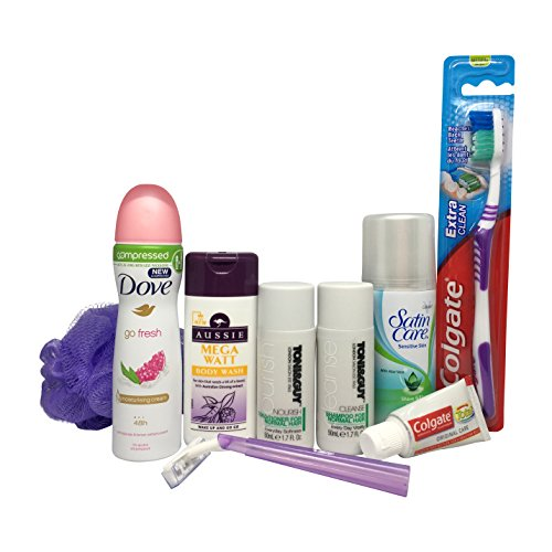 Womens travel size mini toiletries set all under 100ml ready for hand luggage - Toni & Guy