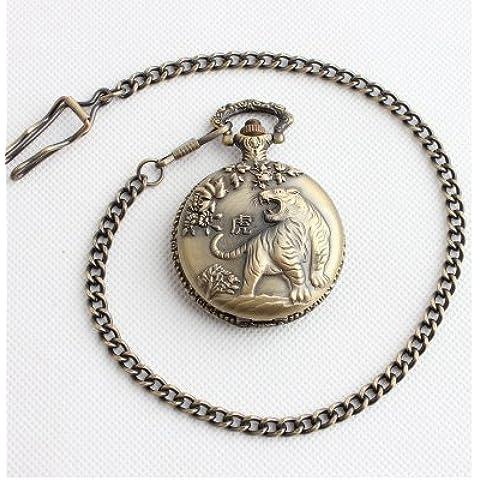 La Perdita di pacchetti posta raccolta l'Orologio da Tasca di Tuba Zodiac Vintage di quarzo nei bovini Tigre Coniglio Drago serpente Cavallo Capra scimmia pollo Cane