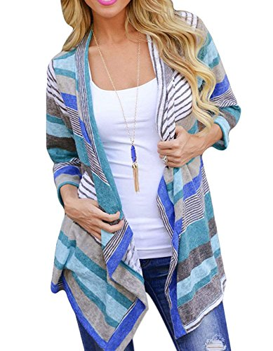 ZEARO Herbst Damen Unregelmäßige Causual Pullover Cardiga Strickmantel Strick Loose Strickjacke Kimono Outwear