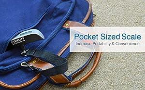 ETEKCITY Digitale Kofferwaage Gepäckwaage Handwaage Hängewaage mit Temperaturanzeige, 50 kg Kapazität, Silber Schwarz