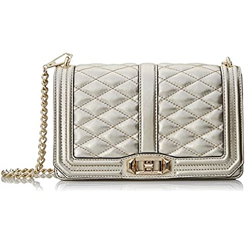 HU15ILVX08POWTER Rebecca Minkoff Borse a Tracolla Donna Pelle (Flap Satchel Handbag)