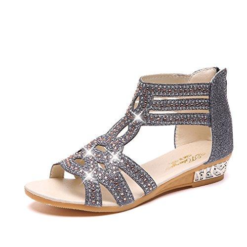Meilleure Vente!Sandales Dames Spring Summer Ladies Women Vindge Sandals Fashion Fish Mouth Hollow Roma Shoes by LuckyGirls