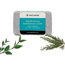 Naturma Tea Tree + Rosemary Handmade Soap 125gm | Natural + Organic | Soothes Relaxes Nourishing