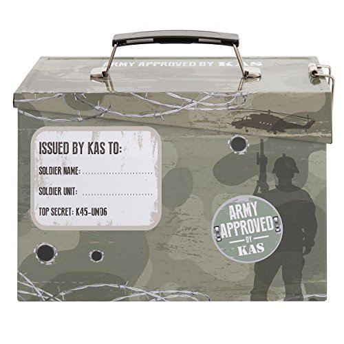 Kids Army Ammo Tin Lunch Box - Toy Storage Tin - Camouflage Ammo Box by KAS