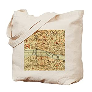 CafePress diseño de mapa de Londres–Gamuza de bolsa de lona bolsa, bolsa de la compra