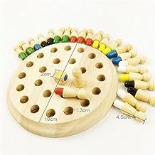 Waldorf juguete de madera Montessori Materiales de madera del bebé Juguetes Ajedrez de memoria para niños de los niños del bebé Teether Juguetes