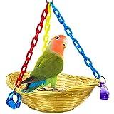 Cesta Columpio de Juguete para pájaros, Cesta, Jaula de Juguete, Loro, cacatúa, Periquito, pájaros, Cuerda para Parque de Juegos para Mascotas, baño, Perca, Caja de aviación