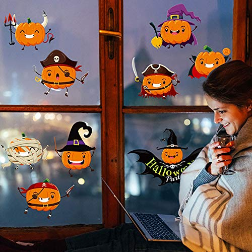 HARRYSTORE Happy Halloween Zu Hause Haushalt Zimmer Wandsticker Wandgemälde Dekor Aufkleber Herausnehmbaren