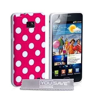 Yousave Accessories SA-EA01-Z278 Coque en silicone pour Samsung Galaxy S2 Rose