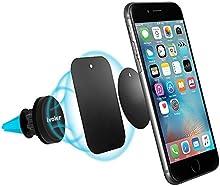 iVoler Soporte Movil Coche Air Magnético para Rejillas de Ventilación 360 grados Soporte Teléfono para Rejillas del Aire de Coche para iPhone 7/7 Plus,6s/6s Plus/6/6, Samsung Galaxy S7/S7 Edge/S6 /S6 Edge, Nexus, HTC, Sony y Android Smartphone GPS(Az