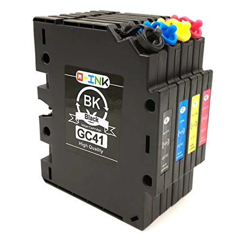 QINK 4 Pack for Ricoh GC-41 Heat Transfer SUB Compatible Ink Cartridge Show  Accurate Ink Level High Capacity High Yield for Ricoh Aficio 3100 Series