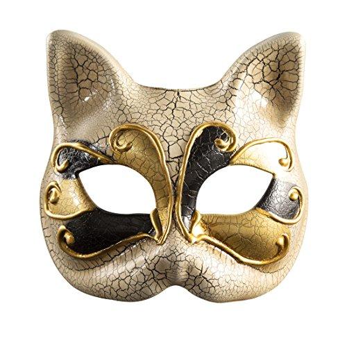 Roman griechischen venezianischen Masken Masquerade Maske Halloween Kostüm Ball Party Kleid Dekoration Supplies Kätzchen Half Face Maske mit Persönlichkeit Karneval Make Up Schwarz