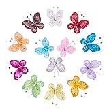 BENECREAT 52 PCS Couleurs Assorties (4pcs / Couleur) Nylon Paillettes Papillon Mariage Table De Scatter Scatter Artisanat Carte Décoration