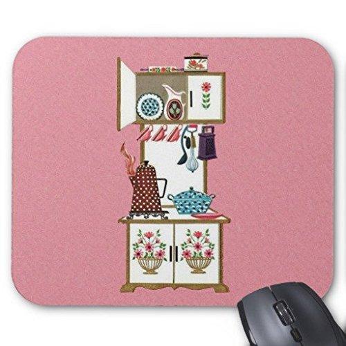 Rechteck-herd (Gaming Maus Pad Vintage Retro Küche Herd Kaffeekanne Rechteck Office Mousepad 22,9x 17,8cm)