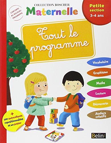 Tout le Programme Petite Section - Boscher