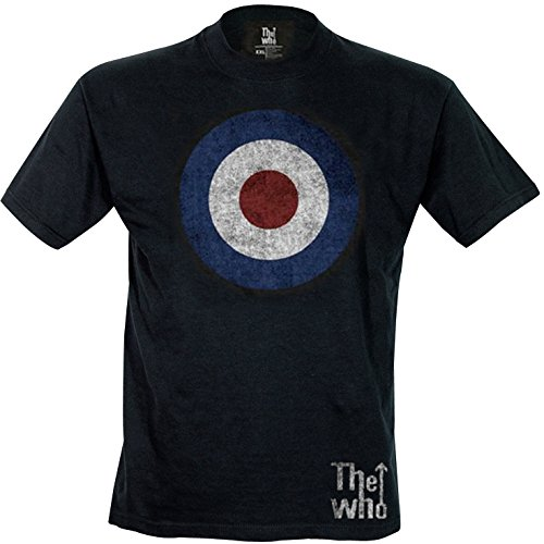 Rock Off Herren, Regular Fit, T-Shirt, The Who Target Distressed Tee Schwarz