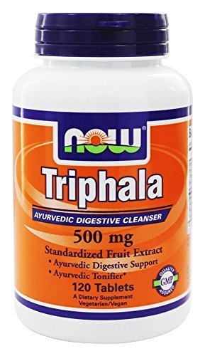 Triphala, 500 mg, 120 comprimés - Now Foods