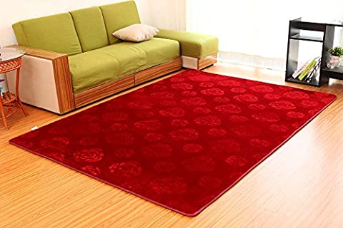 SANNIX 3D Rose Flower Pattern Shaggy Area Rugs and Carpet