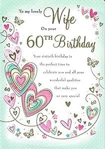 Karte 60 Geburtstag.To A Lovely Frau 60 Geburtstag Grosse Karte Nice Vers