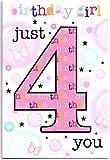Geburtstagskarte für vier (4) Jahre alte–Kostenloser 1st Class Post (UK)