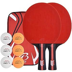 Lynlon Tischtennisschläger mit 6 Bälle | Tischtennis Set mit 6 Tischtennis-Bälle