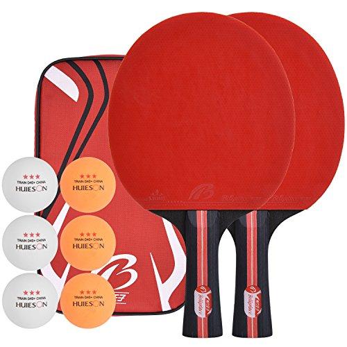 Preisvergleich Produktbild Lynlon Tischtennisschläger mit 6 Bälle / Tischtennis Set mit 6 Tischtennis-Bälle