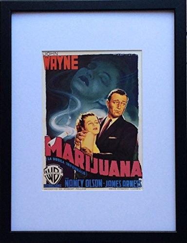 Montiert und gerahmt Reproduktion Film-John Wayne-Big Jim McLain-30cms x 40cms-Luigi martinati