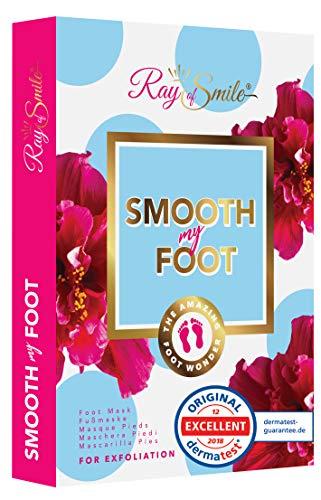 Smooth my foot maschera piedi per i piedi lisci, rimuovere calli e pelle morta, piedi morbidi dopo un solo utilizzo, dermatologicamente testato, ray of smile premium line