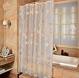 Bellabrunnen Top Qualität PEVA Seestern Wasserdichter Duschvorhang Anti-Schimmel für Badezimmer 120x180cm