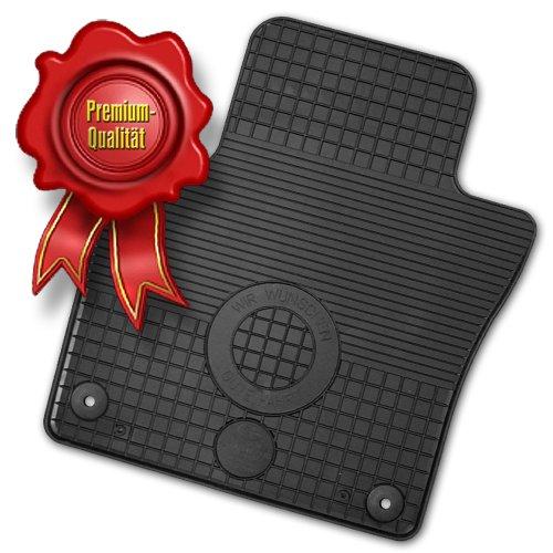 Preisvergleich Produktbild AfC FI00977-G Passform Gummimatten Gummi-Fußmatten für Fiat 500 / Baujahr ab 2007 / 3 trg. und Cabrio / 4 teilig mit Universal Befestigung